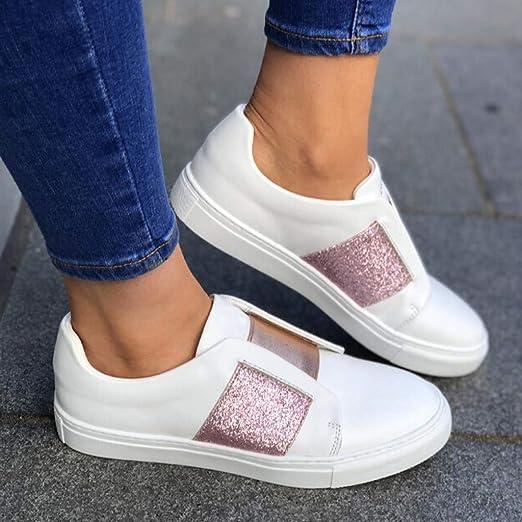 95sCloud Damen Glitzer Sneaker Low Top Slipper Halbschuhe