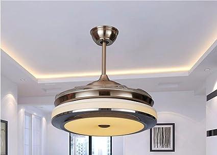 Lampadari Soffitti Bassi : Gzlight ventilatore da soffitto lampadario luci led invisibile di
