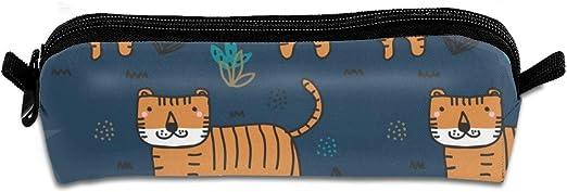 Pengyong Doodle Tiger - Estuche para lápices con Cremallera, diseño de Tigre, para niños, Adolescentes y Otros Suministros Escolares: Amazon.es: Hogar