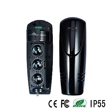 DMMASH 250M Triple Beam Detector fotoeléctrico Tamper Alarma Salida Inicio Seguridad: Amazon.es: Hogar