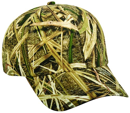 [Mossy Oak Adjustable Tuck-Away Closure Blank Cap, Mossy Oak Shadow Grass Blades Camo] (Mossy Oak Shadow Grass Hat)