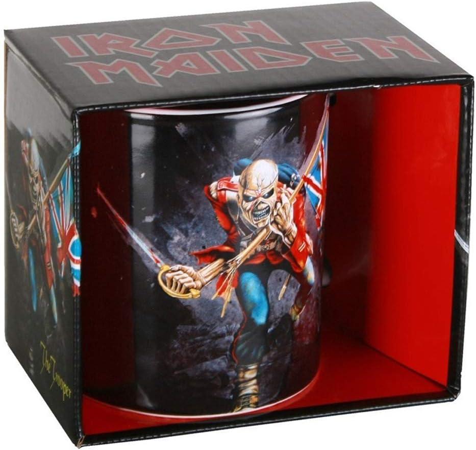 Acero Inoxidable Unbekannt Iron Maiden 1012353710/Taza The Trooper Color Blanco 9/x 4/x 4/cm