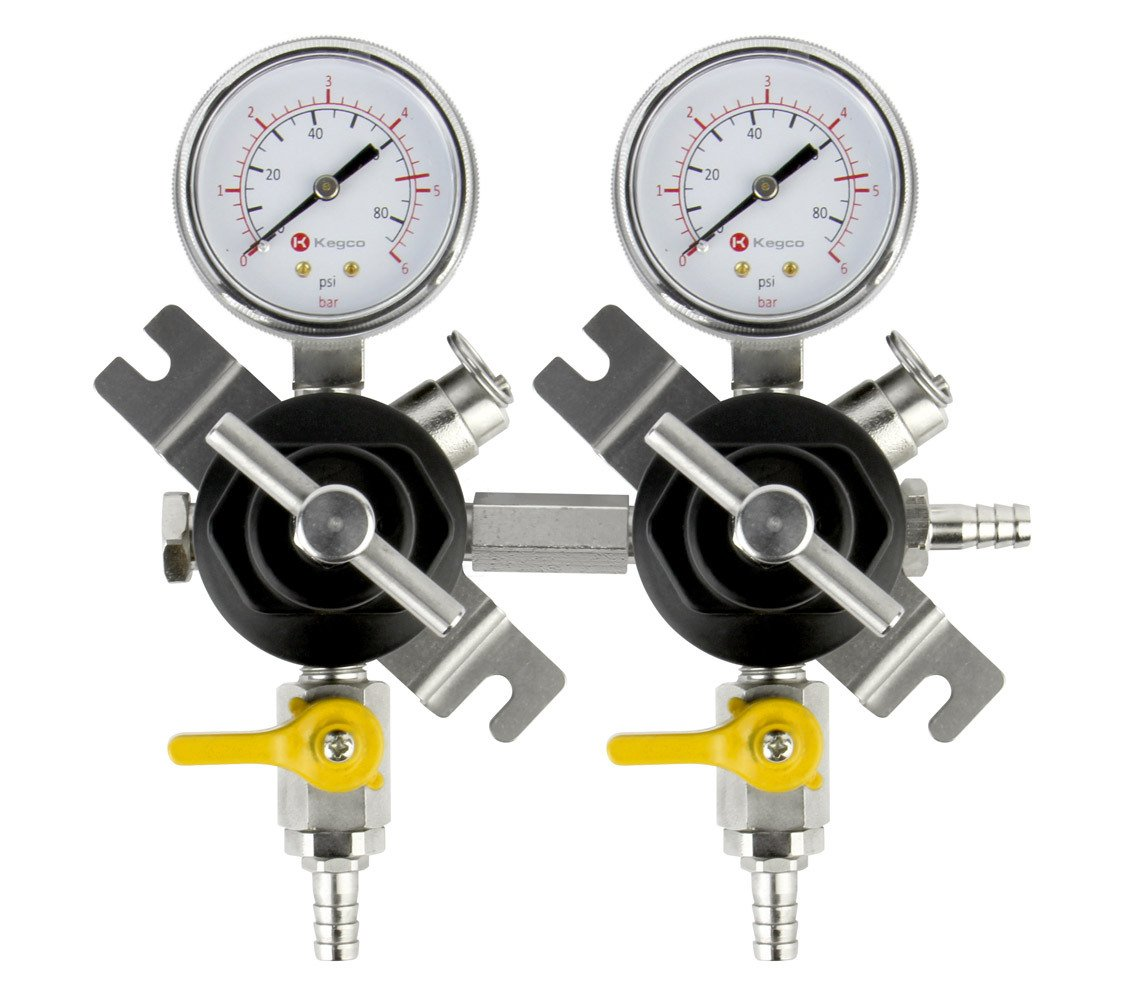 Kegco YH-76S-2 Commercial Grade Double Gauge Secondary Regulator