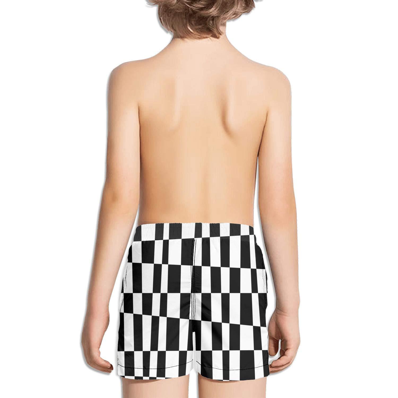 Ouxioaz Boys Swim Trunk Abstract Checkerboard Table Checkers Pattern Beach Board Shorts