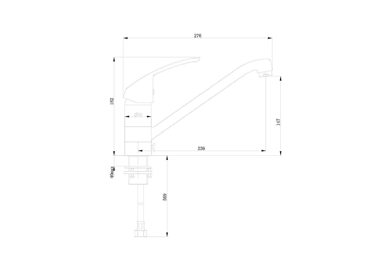 Festerarmatur zur Vorfestermontage Unterfenstermontage Fenster K/üche Armatur K/üchenarmatur Einhebelmischer Wasserhahn k/üchenarmaturen armaturen