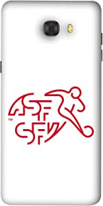 ColorKing Football Switzerland 06 White shell case cover for Samsung C9 Pro