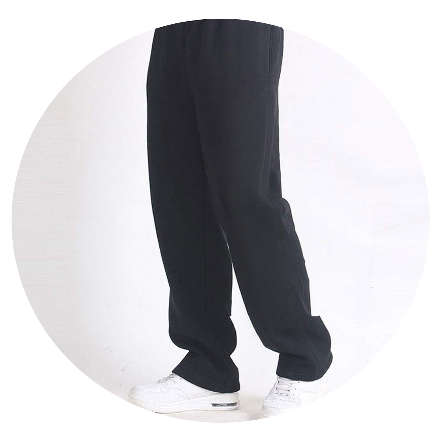 Men Baggy Pants 7XL Men Trousers Solid Color Elastic Cotton Casual Pants Extra