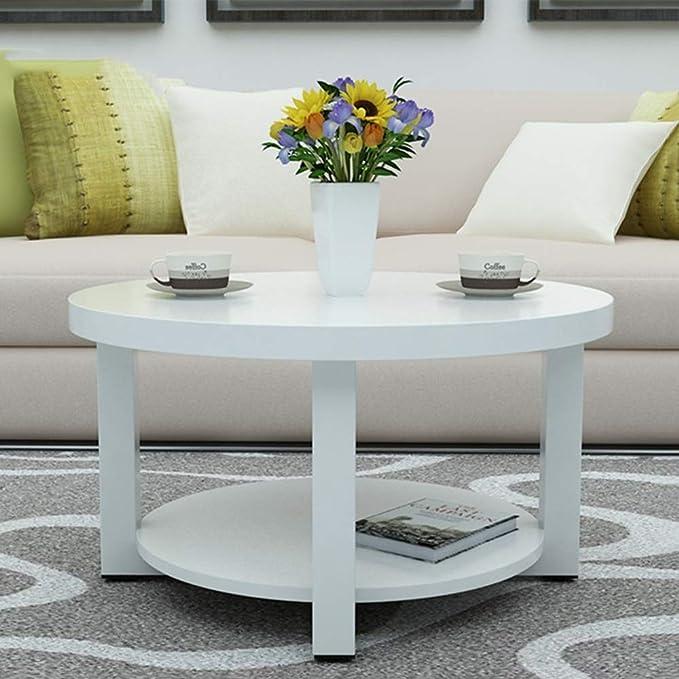 Basse de Basse Table Table d'appartementCouleurBTaille50CM Table en Massif Moderne Petite Bois NAN et Simple négociation Ronde Table Salon SMpUzV