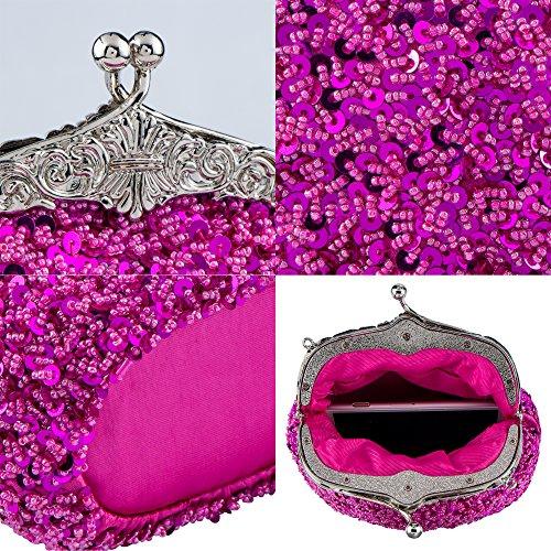 Rose femme Bagood Bagood pour Pochette Pochette BwXIq0BW