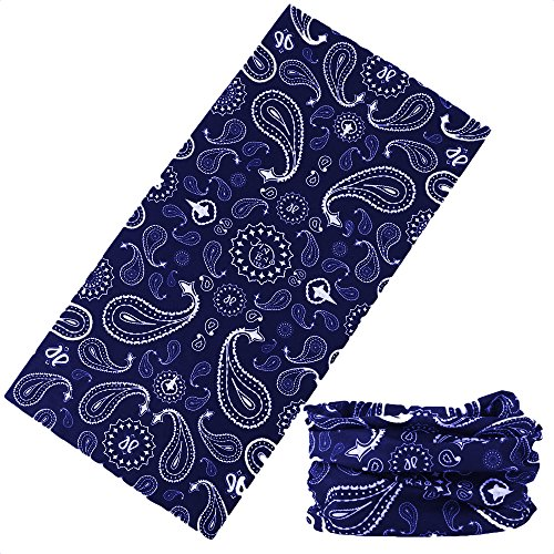 (12-in-1 Bandana Headband - UPF 30 Versatile Outdoors & Daily Headwear - 12 Ways to Wear Including Bandana, Neck Gaiter, Helmet Liner, Balaclava. Performance Moisture Wicking)