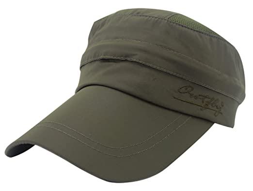 outfly Unisex Flat Top Cap Army Style Cadet Cap with Folding Earflap Warmer 4 Colors