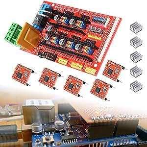 RAMPS 1.4 Control Board + 5X A4988 Heatsink Driver Module 3D Printer RAMPS TE210