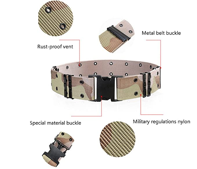 Tactical Seat Belt Utility Tool Ajustable Heavy Police User Training Belt Multicolor Opcional Lon5k
