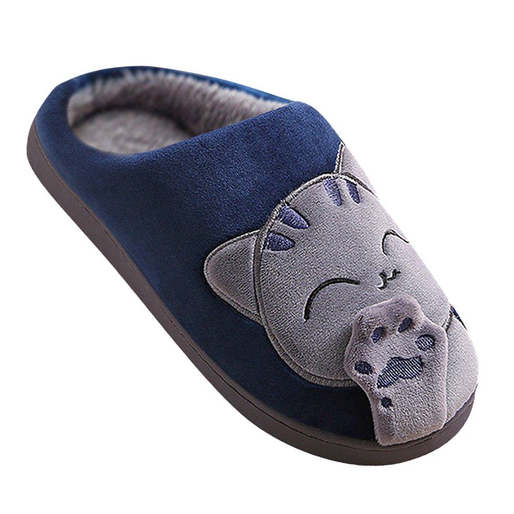 Quge Damen und Herren Hausschuhe Kuschelige Pantoffeln mit Süßem Katze-Motiv und Krallen Slippers Kaffee 40-41 kAaHLycvYZ