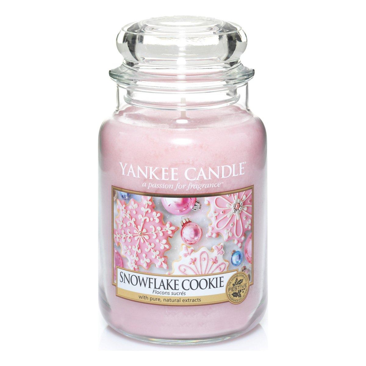 Yankee Candle Candela Grande Vaso, Biscotto del Fiocco di Neve 1275342EZ