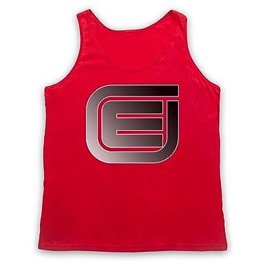 Inspiriert durch Tron Encom E Logo Unofficial Tank-Top Weste: Amazon.de:  Bekleidung