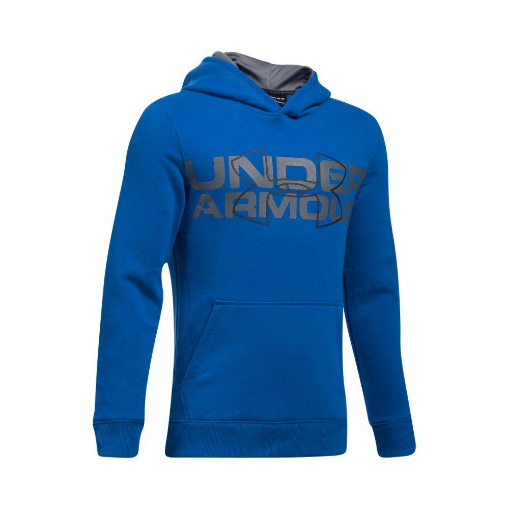 Under Armour Boys' Threadborne Logo Hoodie, Ultra Blue /Black, Youth X-Small