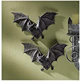 Design Toscano Vampire Bat - The Vampire Bats of Castle Barbarosa Wall Sculptures - Set of 2 - Bat Figure - Halloween Bats