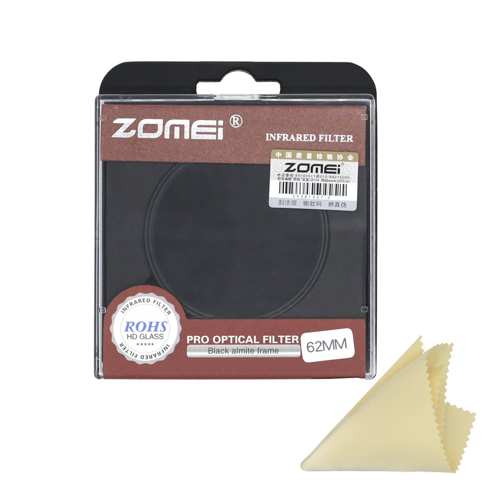 Zomei IR Infrared filter Compatible with Pentax Olympus Samsung DSLR Cameras (62mm, 720nm)