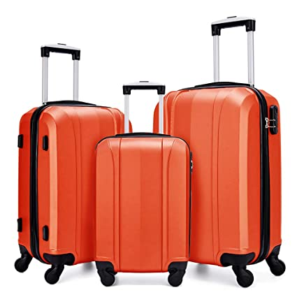 86d275269a90 Fochier Luggage Set 3 Piece Hardshell Lightweight Spinner Suitcase