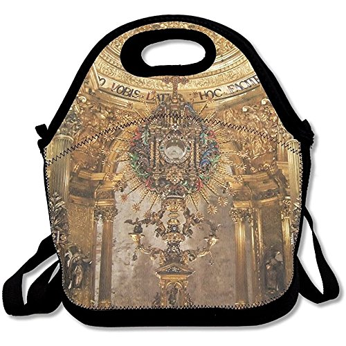 Staropor Golden Religious Objects Spain Awesome Lunch Tote Lunch Bag Outdoor Picnic Mid-sized by Staropor