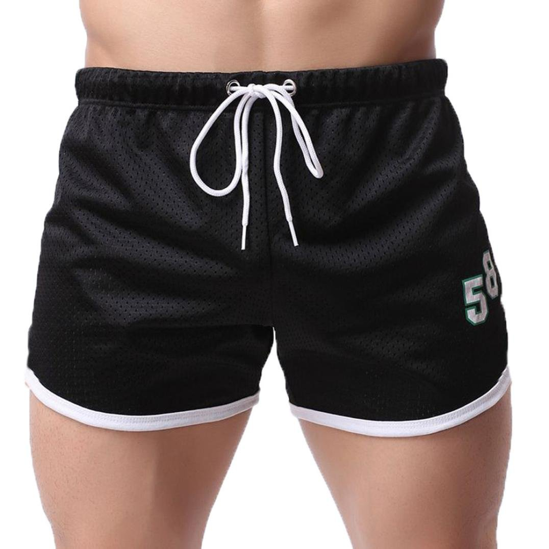 Un Pantalon Homme, YanHoo® Hommes d'été Short Aptitude La musculation jeans Mode Garçons Cargaison Pantalon court décontracté (XL, Blanc)