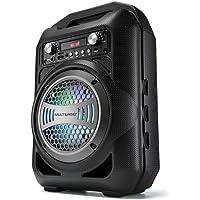 Caixa de Som 6 em 1 Bluetooth 50W RMS Karaokê Rádio FM, Multilaser, SP255