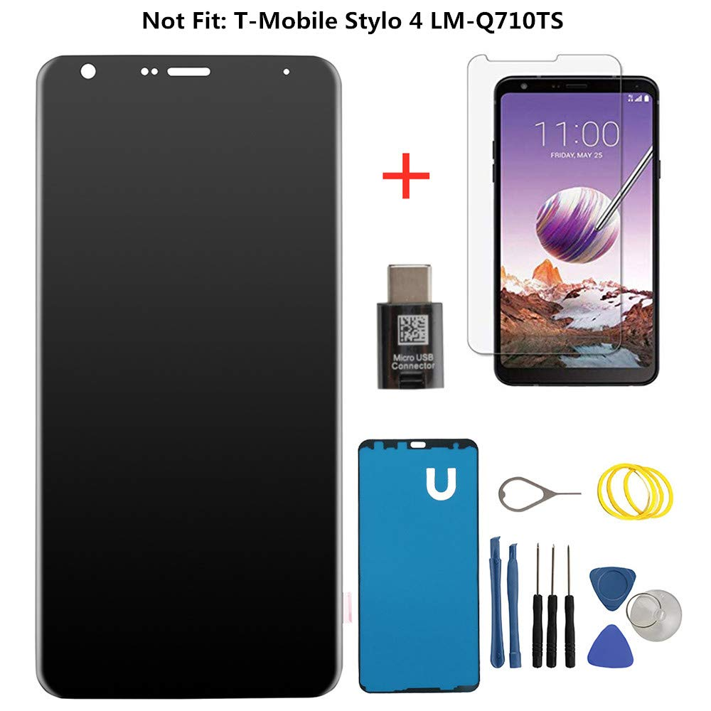 for LG Stylo 4 (6.2 Inch) Black Cover LCD Screen Replacement Display Touch Digitizer Assembly Compatible with Model LG Stylo 4 /Q Stylus Q710 Q710MS Q710AL Q710US+Screen Protector,Not Fit: T-Mobile St by pop-one