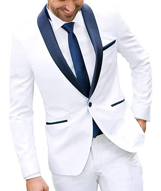 Amazon.com: Fitty lell para hombre un botón blanco dos ...