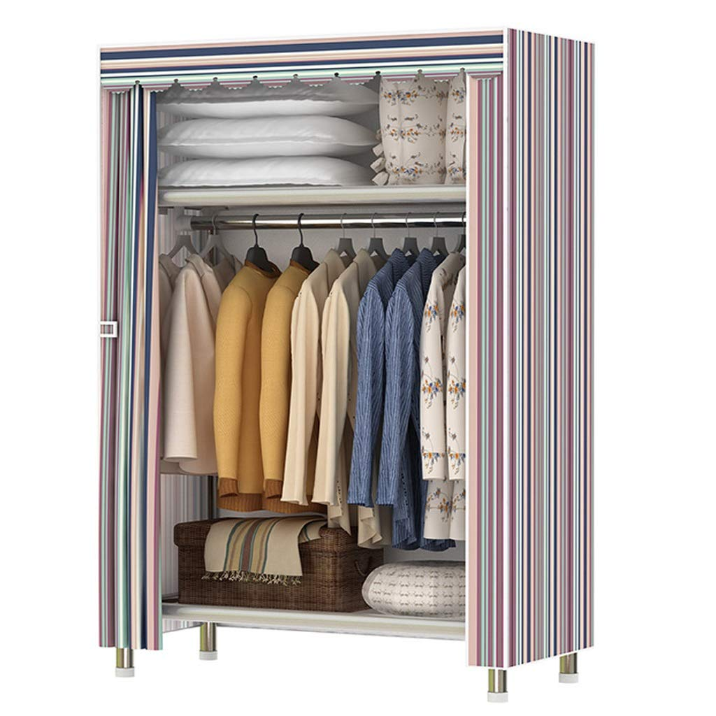 Hai Yan Boutique Cloth Wardrobe Cloth Wardrobe Simple Wardrobe Single Dormitory Oxford Cloth Cabinet Student Assembly Clothes Cabinet (Color : B) by Hai Yan