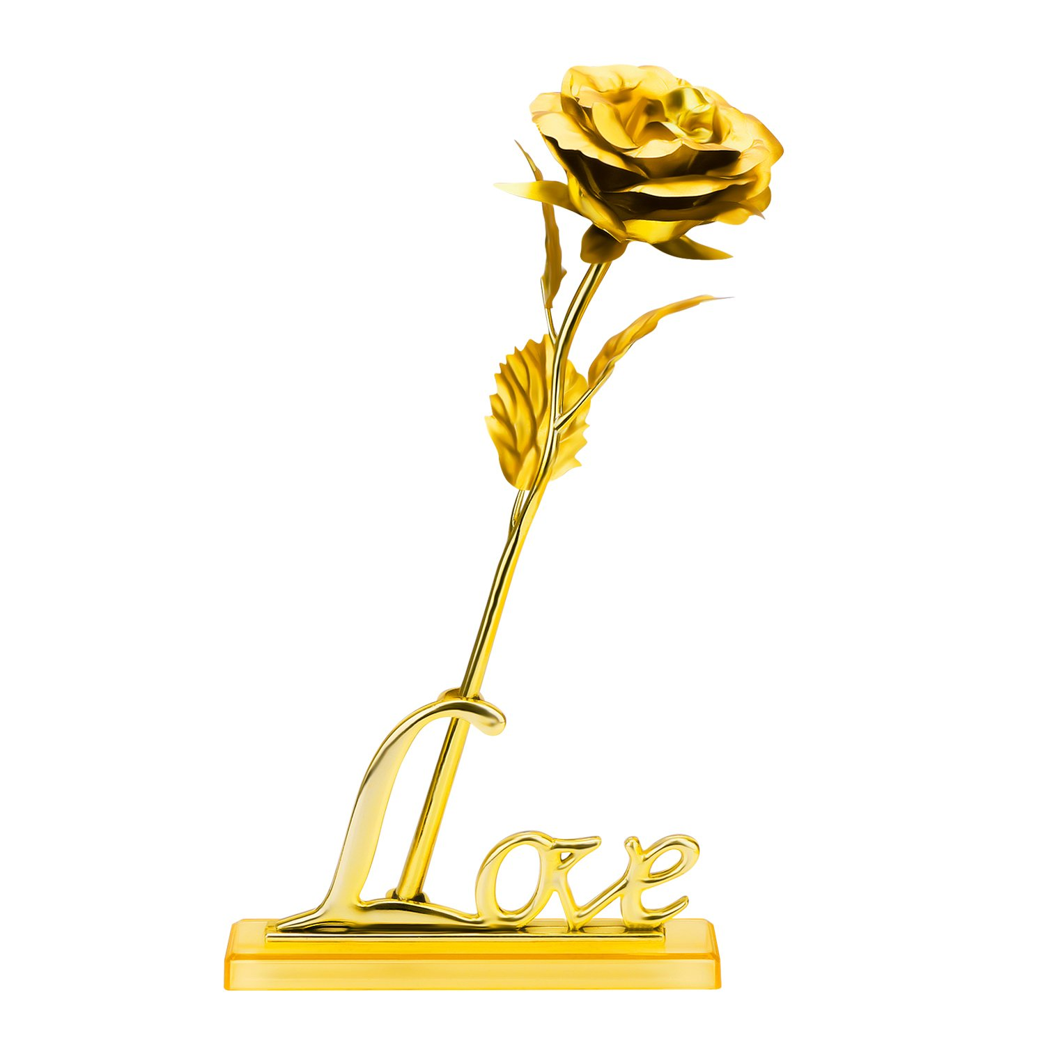ProCIV Gold Roses, 24K Gold Foil Decoration Artificial Rose Flowers in Gift Box, Best Gift for Mother's Day, Valentine's Day, Wedding Day, Birthday, Christmas, Thanksgiving, Home Decor by ProCIV (Image #2)