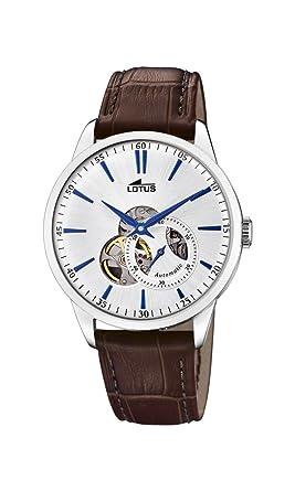 Lotus Watches Reloj Análogo clásico para Hombre de Automático con Correa en Cuero 18536/2: Amazon.es: Relojes