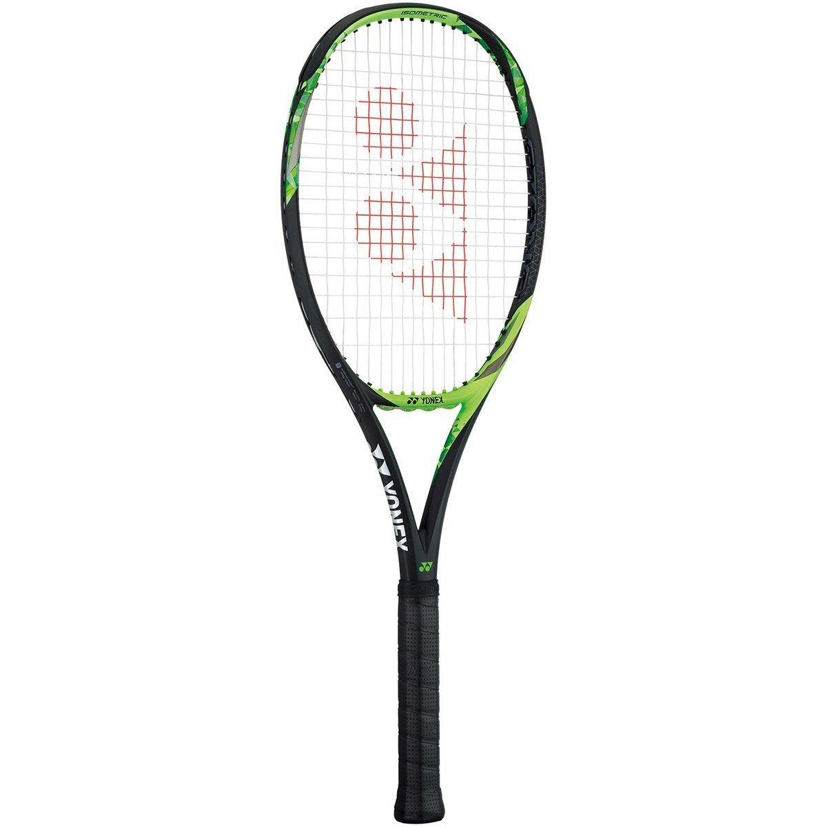 ヨネックスEZONE 100 (2017年モデル – 300 g) ライムグリーン/ブラックテニスラケットStrung withカスタムラケット文字列色(Enhanced Sweetspot &振動Reduction) B07DP4WQ5G 4 5/8-inch|Pink String Pink String 4 5/8-inch