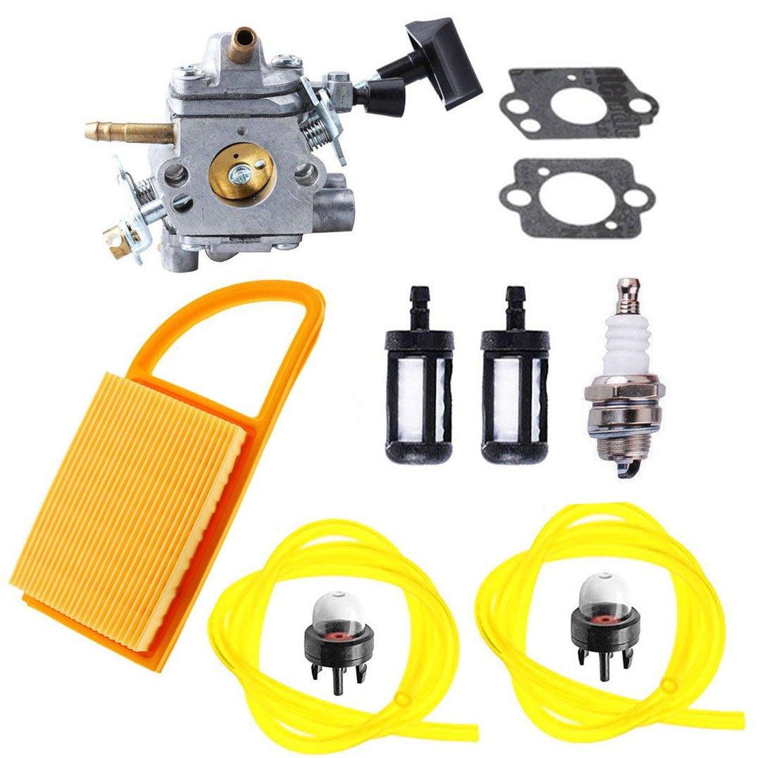 podoy BR600 Vergaser c1q-s183 Carb mit Air Filter Kraftstofffilter Zü ndkerze Primerpumpe fü r Stihl BR500 BR550 Rucksack Geblä se Teile