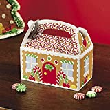 Gingerbread House Treat Box - Holiday Party Supplies - 12 per Pack