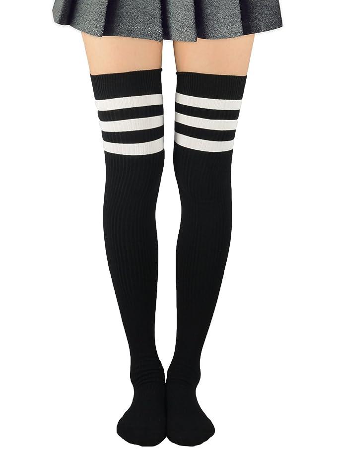 best place fashion style arrives Zando Women Extro Long Thigh High Socks Fashion Stripe Tube ...