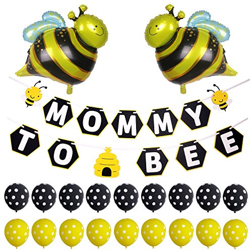 Simla Decor Mommy to Bee Banner Bumble Bee Baby Shower Gender Reveal Party -
