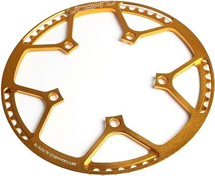 Explopur BCD - Plato de Bicicleta (130 mm, 5 Tornillos, 58 Dientes ...