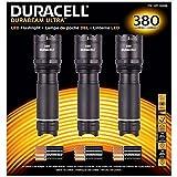 Duracell Durabeam Ultra Tactical High-Intensity Compact LED Flashlight, 3-Pack (380 Lumens, 3PK Black)