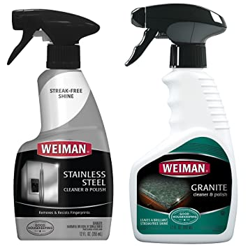 Weiman Stainless Steel Cleaner And Polish   12 Ounce   For Countertop And  Appliance Protect From