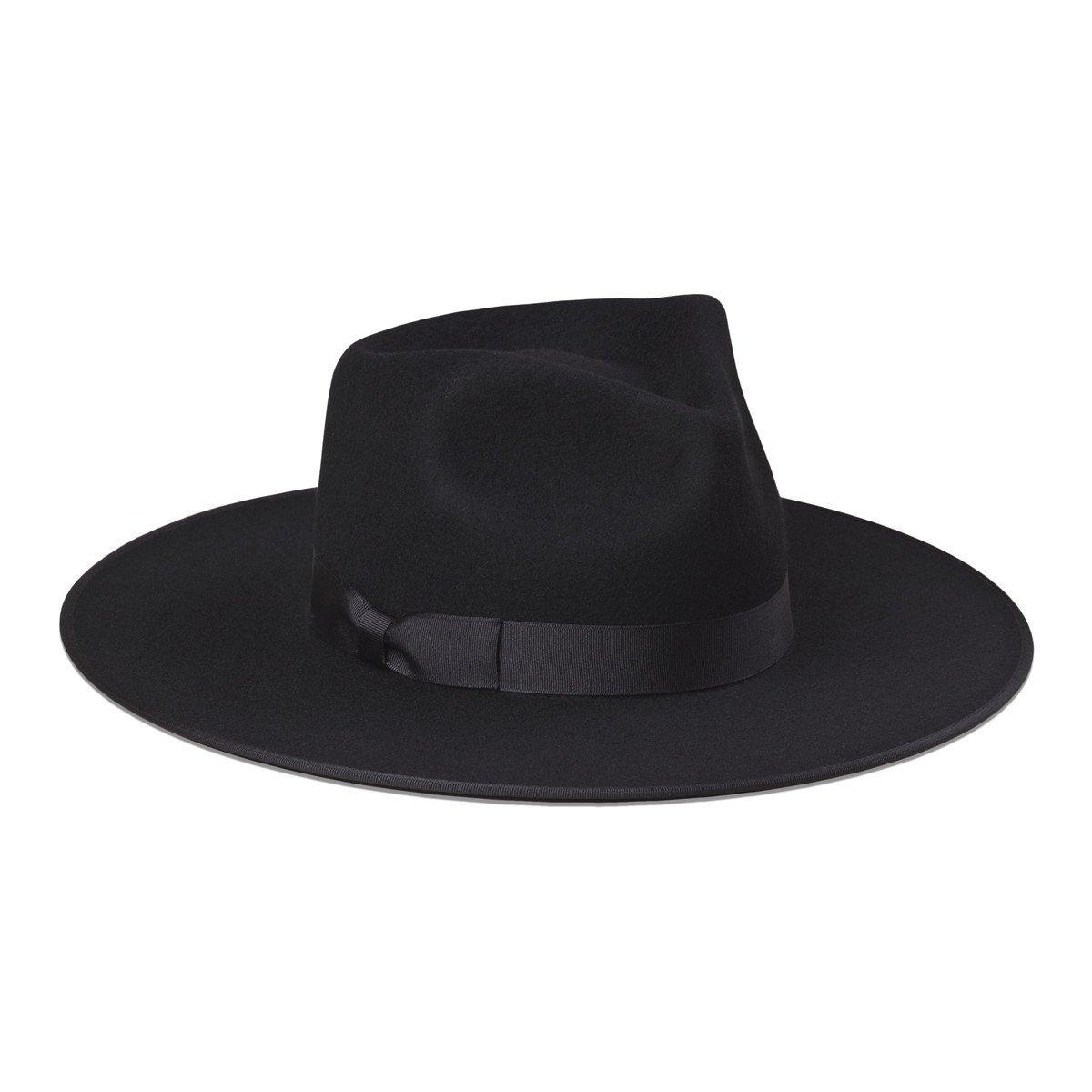 Lack of Color Women's Noir Rancher Fedora Hat (SM (55cm), Black)