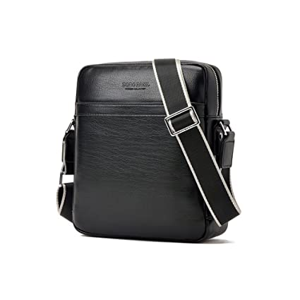 b98ec033c9 AIAIMEI Man Bag Small Mens Crossbody Messenger Bag Men s Leather Shoulder  Bag Handbag Satchel Bag for Men fits for iPad ZR2304-1-black  Amazon.co.uk   ...