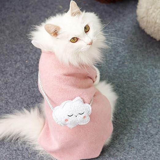 ZHAOYAN - Ropa de Gatito roja Linda para otoño e Invierno, cálida, sin Pelo, para Gatos, Mascotas, Gatos, antipelo, otoño, Invierno: Amazon.es: Productos para mascotas