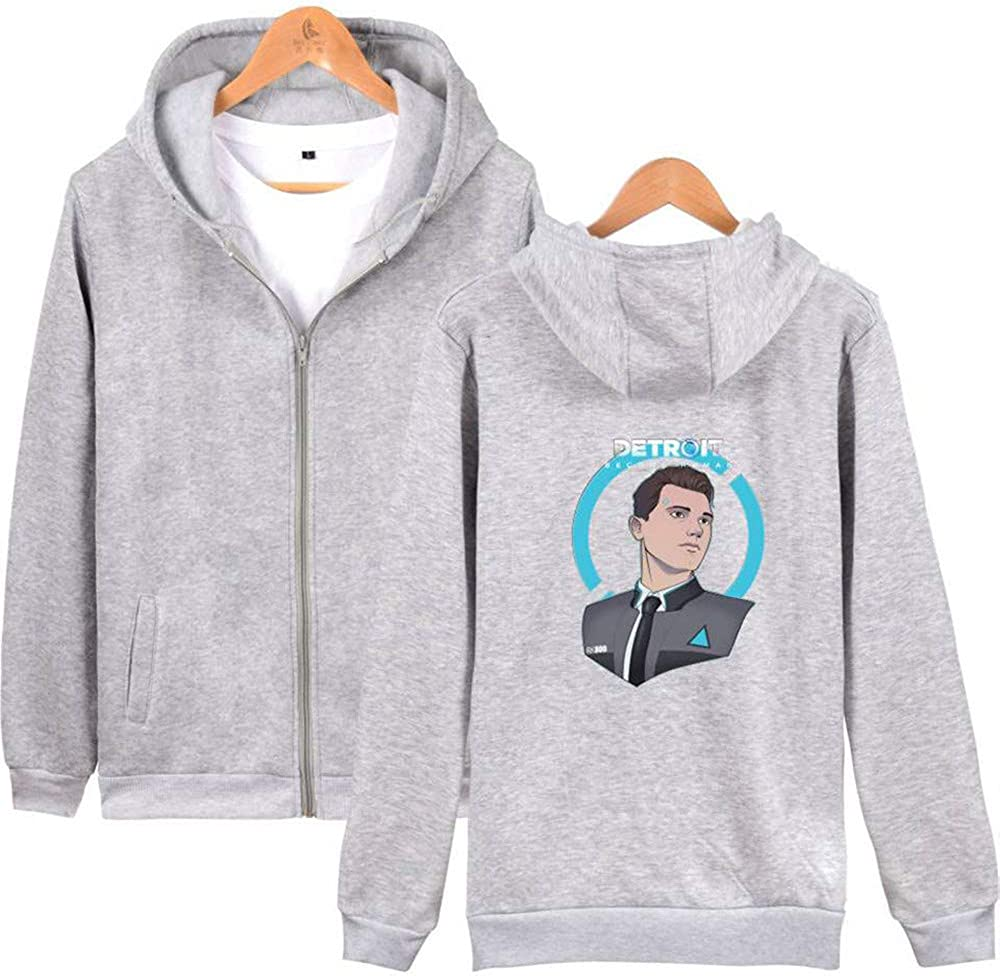 S biaohe Check Out The Detroit Become Human Trend Zip-Up Daily wear Hoodie Outerwear Navy A