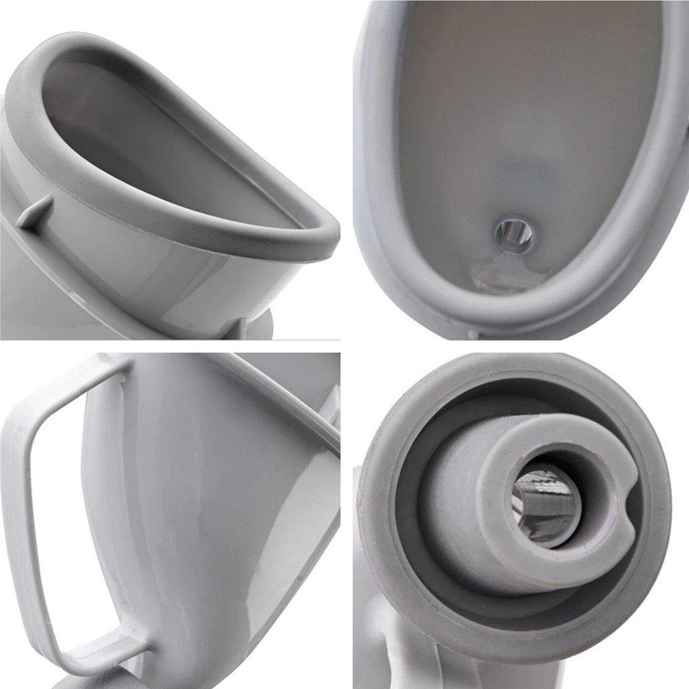 YUMSUM Mujer Femenina Dispositivo de Urinación Urinario, Embudo Portátil Reutilizable Travel Toilet Pee Bottle para Emergencia de Camping al Aire Libre Sit ...