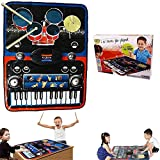 Kids Piano and Drum Playmat 2 in 1 Piano and Drum Combination Playmat Plus Record and Demo Features