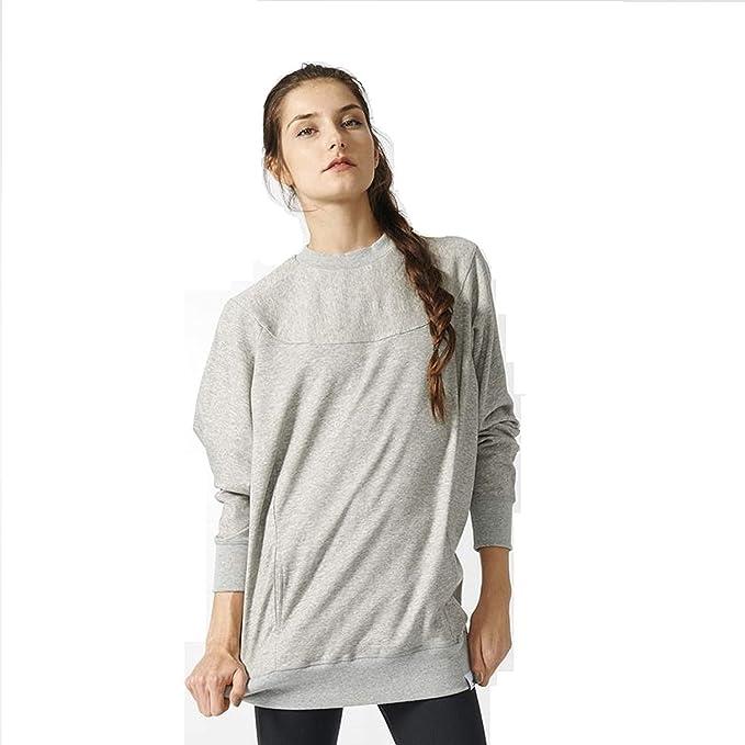 Originals Xbyo Sweatshirtmedium Heather Adidas Women's Grey H2WED9IY