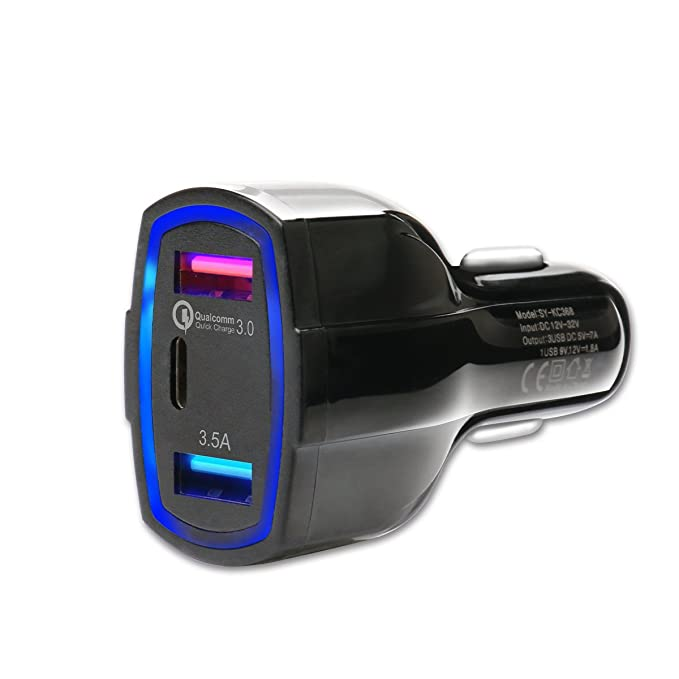 OnKey Quick Charge 3.0 Cargador de coche, 36 W 3 puertos USB ...