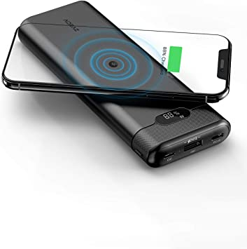 AIDEAZ Batería Externa 20000mAh Powerbank con Cargador inalámbrico ...