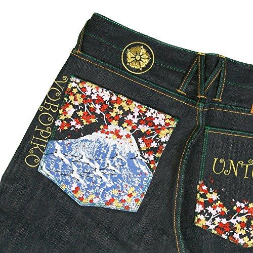 yoropiko Jeans Sakura Oiseaux Denim Jean yoro9091